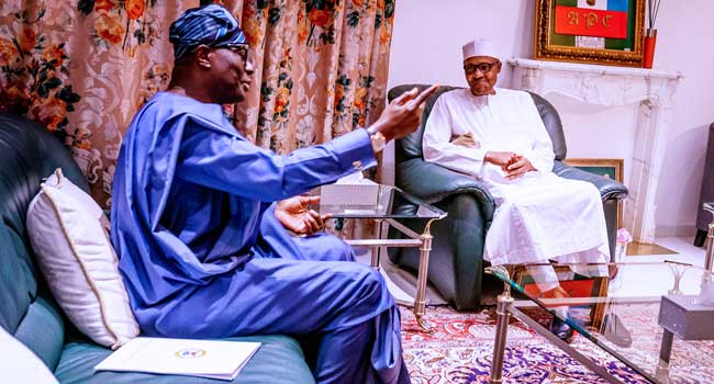 Sanwo-Olu, Buhari Meet Over #EndSARS Protests In Lagos