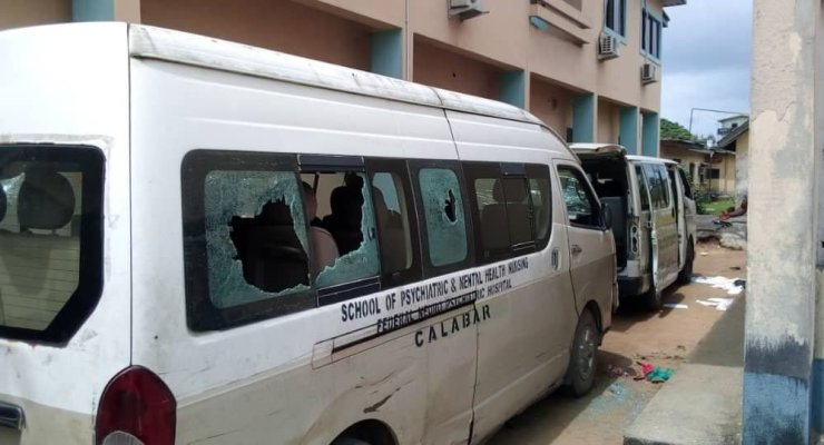 Hoodlums Attack, Burn WAEC Office, Senator Ndoma-Egba's House In Calabar (Videos)
