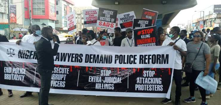 #ENDSARS: Lagos Lawyers Join #EndPoliceBrutality Campaign – [Photos]
