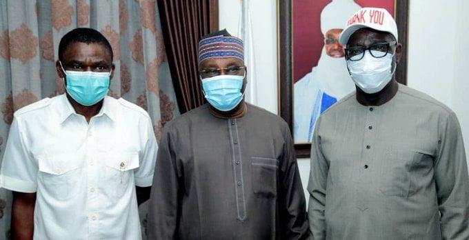 Edo: Obaseki, Shaibu Visit Atiku In Abuja (Photos)