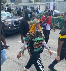 Tacha protest - Ex-BBNaija Star Tacha Dares Wike, Insists On #EndSARS Protest In Rivers