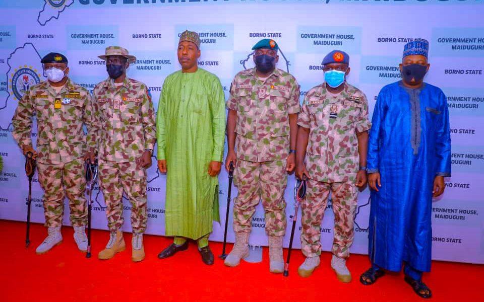 Boko Haram: Magashi, Irabor, Attahiru, Other Service Chiefs Storm Maiduguri