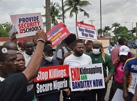 Human Rights Lawyer, Femi Falana And Son, Falz, Storms The Streets, Protest Against Bad Governance