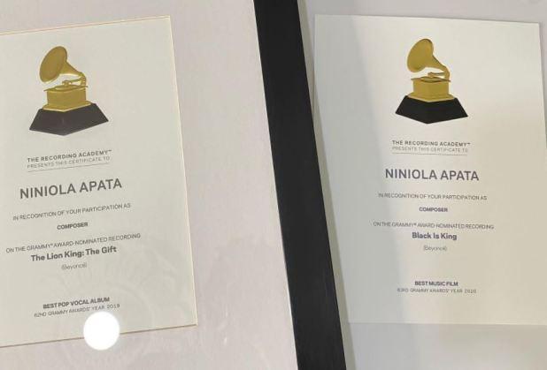 Singer, Niniola Flaunts Her Grammy Awards Certificate  Photos