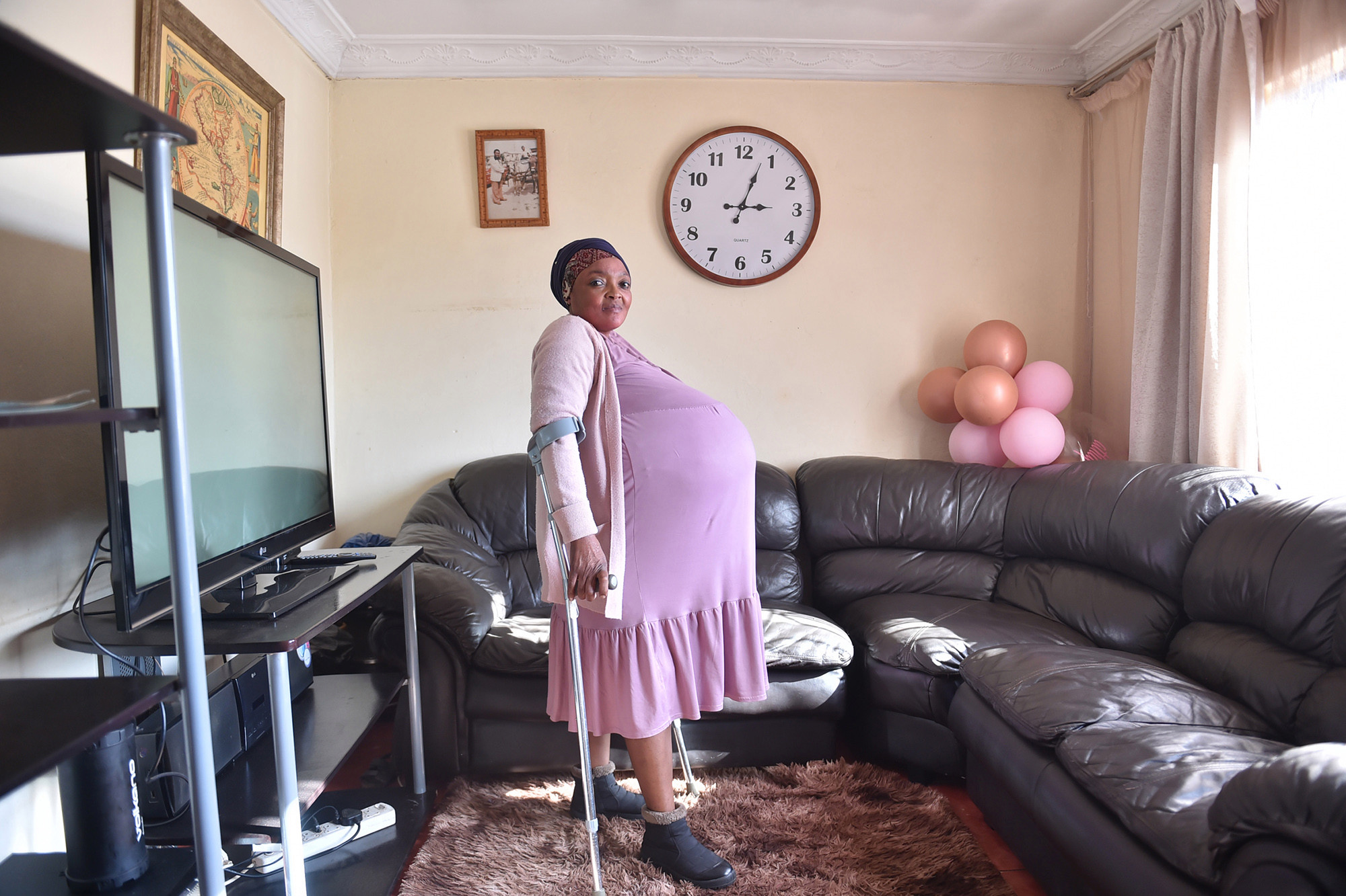 Gosiame Thamara Sithole said her pregnancy was natural and had not received any fertility treatment.