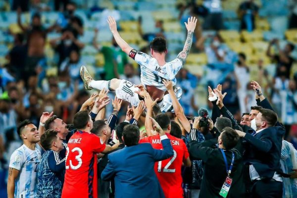Messi Shines As Argentina Beat Brazil To Win Copa America [Photos]
