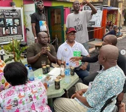 'Ogun Kill All Of Them' Nigerians React To Photos Of Joe Igbokwe Celebrating With His Boys After Sunday Igboho's Arrest