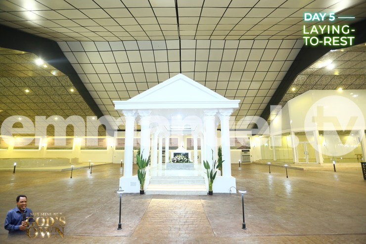 See Photos Of TB Joshua's Tomb In Synagogue Church