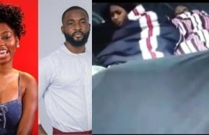 Image result for #BBNaija: Esther and Frodd shocked as Khafi and Gedoni engage in sex (Video)