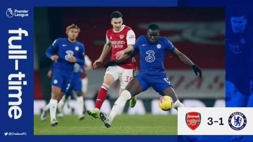 VIDEO: Arsenal Vs Chelsea 3-1 Goals Highlights