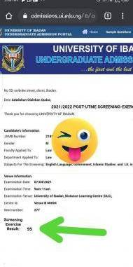 University of Ibadan Post-UTME results out