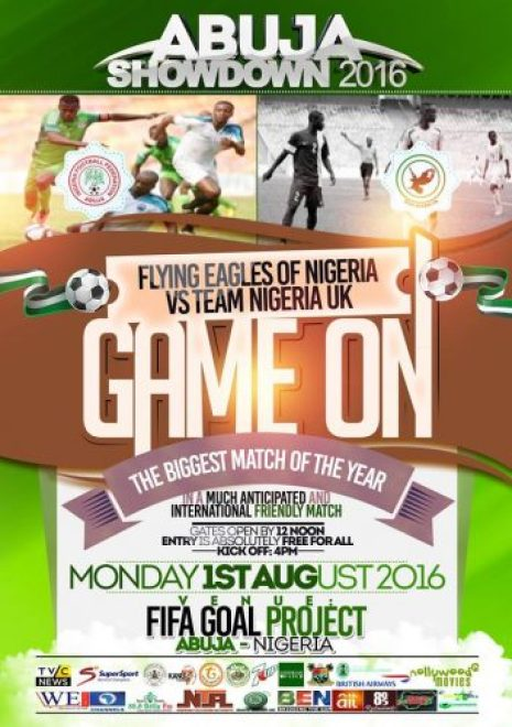 Flying Eagles of Nigeria, Team Nigeria UK,