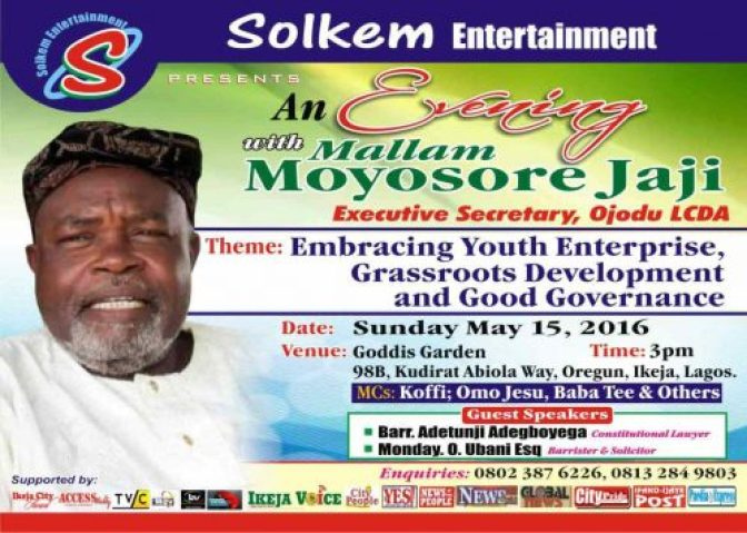 An Evening With Mallam Moyosore Jaji