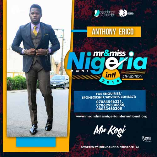 Erico Anthony, Finalists, Mr And Miss Nigeria International Pageant 2016