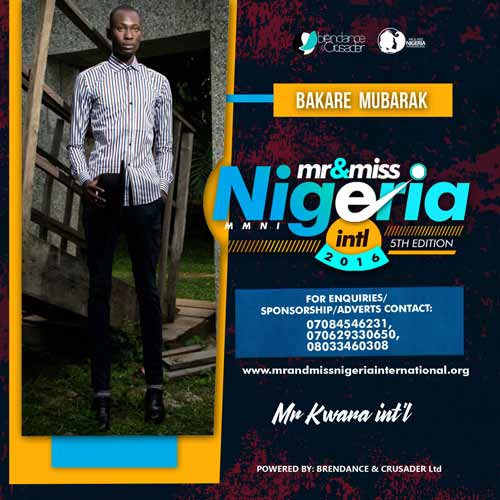 Bakare Mubarak, Finalists, Mr And Miss Nigeria International Pageant 2016