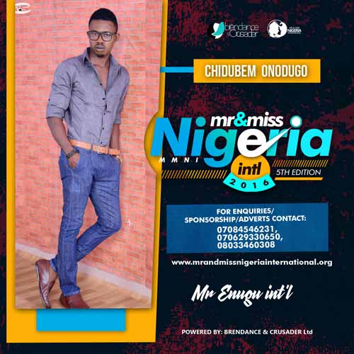 Onodugo Nelson Chidubem, Finalists, Mr And Miss Nigeria International Pageant 2016
