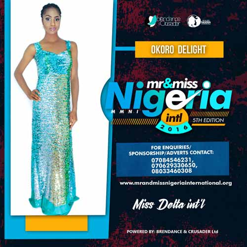 Okoro Delight, Finalists, Mr And Miss Nigeria International Pageant 2016