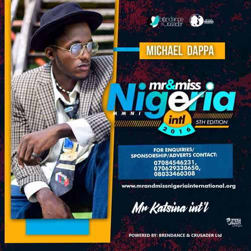 Michael Dappa, Finalists, Mr And Miss Nigeria International Pageant 2016