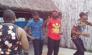 "PHOTOS OF BLACKFACE ""DO ME"" VIDEO SHOOT"