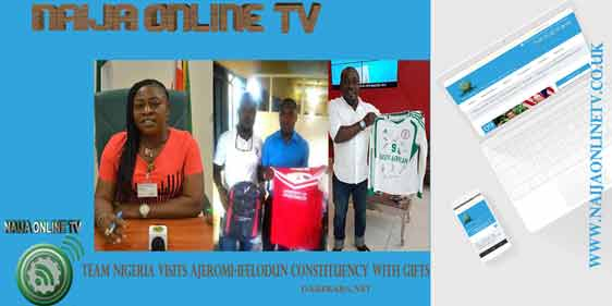 TEAM NIGERIA INTERNATIONAL VISITS AJEROMI-IFELODUN CONSTITUENCY WITH GIFTS