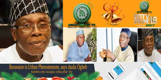Recession is Urban Phenomenon, says Audu Ogbeh