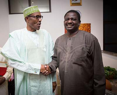 Femi Adesina speaks with Buhari on phone call after a month plus