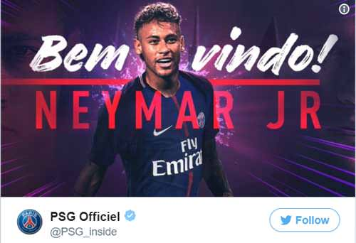 "Neymar completes PSG transfer in ""Hollywood Fee"" transaction"