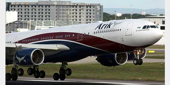 Arik Air plane makes emergency landing in Ghana after smoke oozes from cabin