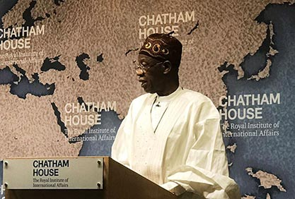 Alh. Lai Mohammed's HMIC Presentation, at The Chatham House in London