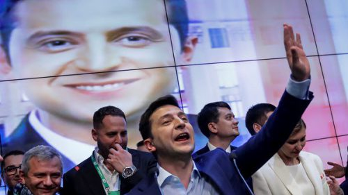 Elected Ukraine leader, comedian Volodymyr Zelenskiy vows to unite country