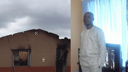 Armed Political Thugs burn family house of former Ogun State councillor-ship aspirant