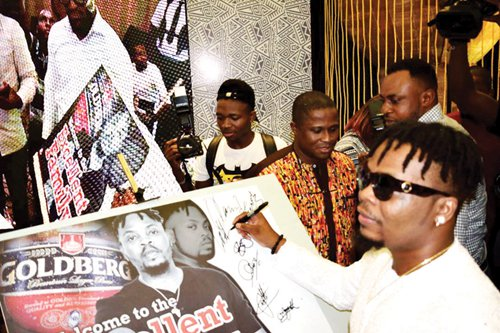 Olamide unveiled as Nigerian Breweries' Goldberg Ambassador
