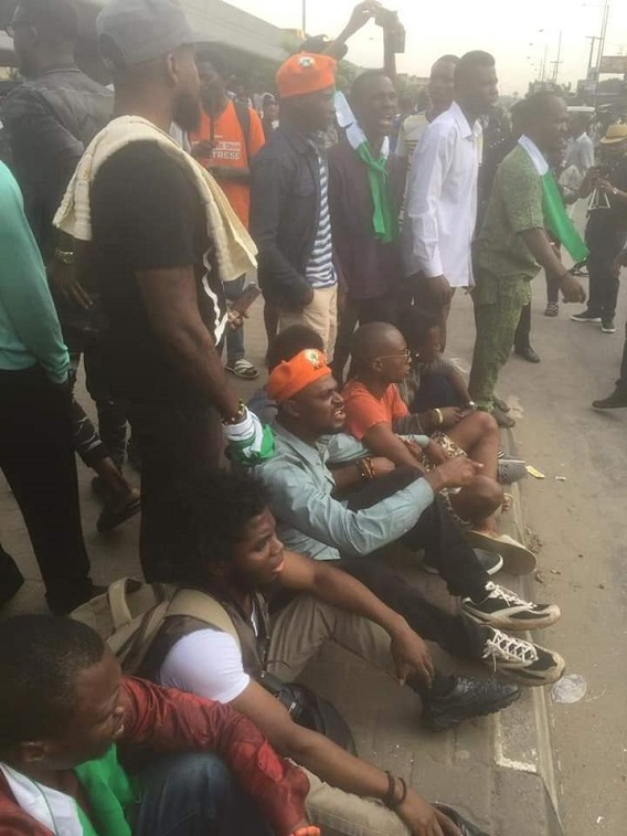 Members of the #RevolutionNow movement