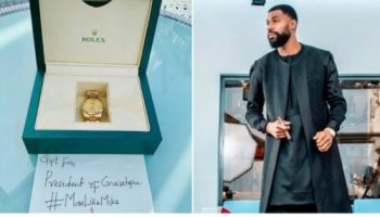 Ex BBNaija housemate Mike Edwards receives gift from fans