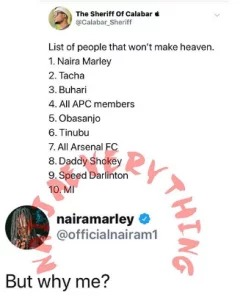 List Of People that will not make heaven
