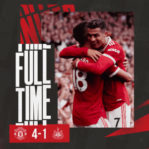 Manchester United vs Newcastle 4-1 – Highlights