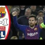 VIDEO: Barcelona Vs Lyon 5-1 UCL 2019 Goals Highlights