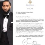 Read Barack Obama's Memorial Tribute to the Late Nipsey Hussle