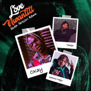 CKay - Love Nwantiti Ft. Gemini Major, Tshego (South African Remix) Mp3 Audio Download