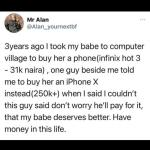 Heartbroken man narrates what another man did to his girlfriend after he planned on getting her a N31k Android phone