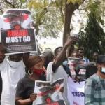 Protesters hit the streets of Abuja, demand Buhari's resignation (Photos/Video)