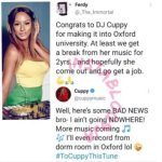 """""""I'm Not Leaving Music For School"""" – DJ Cuppy"""