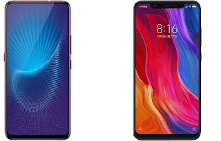 MI 8 vs Vivo NEX will be a great comparison so let's see which one of the giant takes the trophy.  These two mobiles are great in design with high performance and quality camera but one has to be better or more preferred than the other.  The Mi 8 is a full-screen device with a notch screen design and it looks like the iPhone X without the fingerprint scanner at the back, while Vivo NEX is an all screen display smartphone without notch design, rear fingerprint sensor, visible earpiece nor a screen inbuilt front camera, what you see is just screen.
