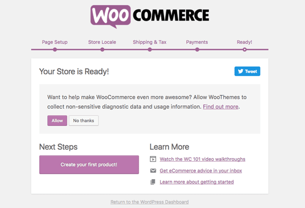 Your WooCommerce Store is Ready