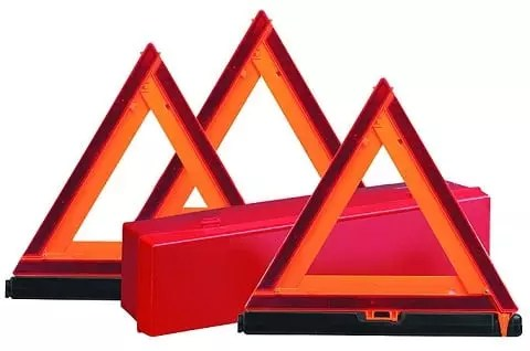 3 Reflective Caution Triangles