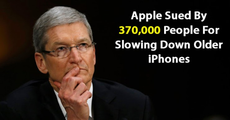 Lawsuit : 370,000 People Sue Apple For Intentionally Slowing Down Their iPhones 2