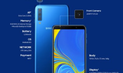 Samsung Galaxy A7 2018 Launches With 3 Cameras - Specs And Price In Nigeria 4