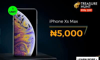 Jumia Treasure Hunt - Get An iPhone XS Max For N5,000 and HP Laptop For N2,000 13