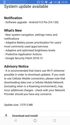 Nokia 8 Sirocco finally getting the Android 9 Pie update 4
