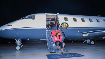 Davido Private Jet #AirOBO
